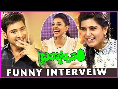 Samantha Interviews Maheshbabu & Kajal Agarwal - Brahmotsavam Funny Interview
