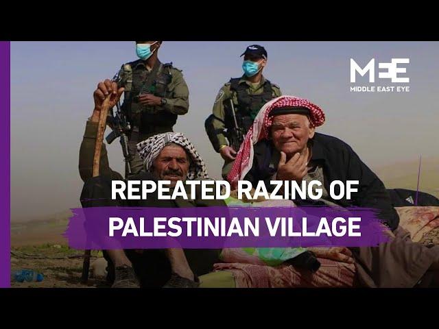 Israeli forces repeatedly raze Palestinian bedouin community in the Jordan Valley