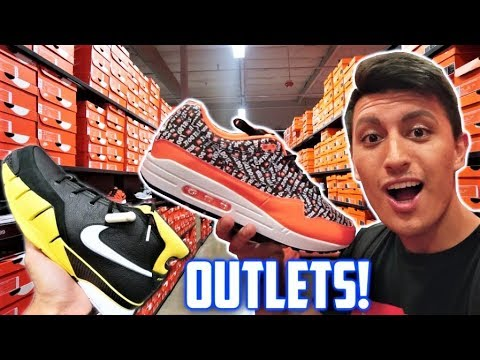745b0b91 40% OFF! The GREATEST OUTLET MALL EVER? NIKE CLEARANCE HEAT! - YouTube