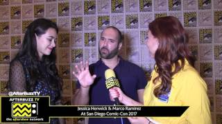 Jessica Henwick & Marco Ramirez (The Defenders) at San Diego Comic-Con 2017 Top 10 Video