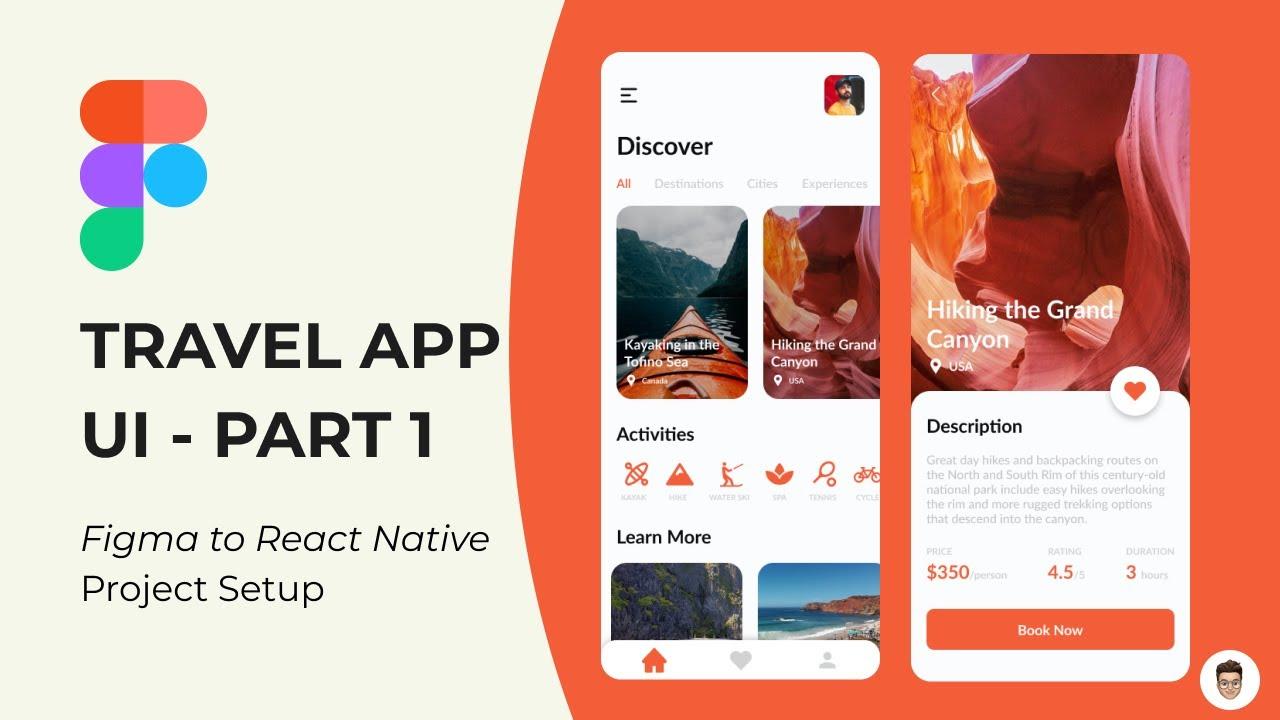 Travel App UI Part 1 - Figma to React Native