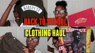 back to school clothing haul   2016 2017