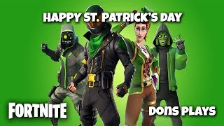 🔴 FORTNITE HAPPY ST. PATRICK'S DAY!! || 500 LIKE GOAL || GIVEAWAY 🔴