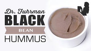 Dr. Fuhrman's Black Bean Hummus Recipe With Blender Babe Micquick.