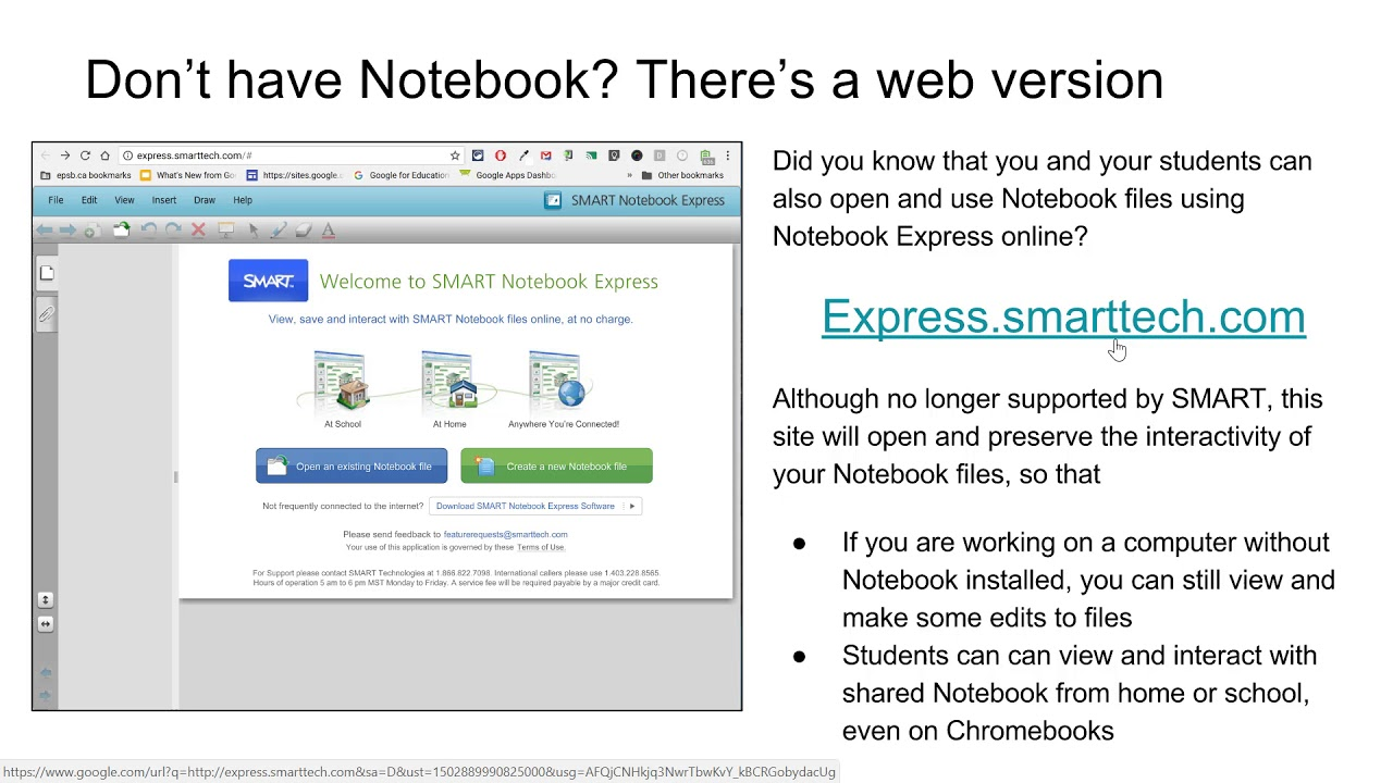 Notebook EPSON Using Notebook Express for Notebook files on Chromebooks
