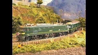 Nゲージ・ 鉄道模型・ 自宅レイアウト・ 走行動画    EF510とDF200のトワイライト色を作ってみました !