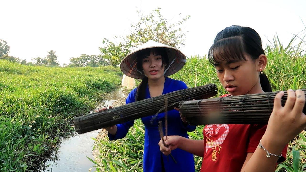 Đi gỡ Trúm Lươn đủ làm nồi Lẩu Lươn buổi chiều | Thôn Nữ Miền Tây Tập 66