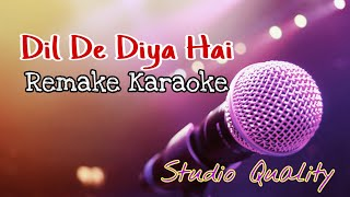 Dil De Diya Hai - Remake Karaoke With Lyrics || BasserMusic Old Bollywood Song Karaoke