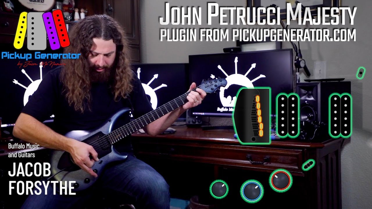 """John Petrucci Majesty plugin from PickupGenerator.com """"how to use"""" featuring Jacob Forsythe"""