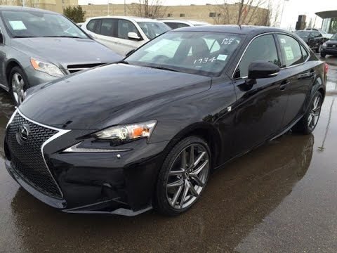 new black on red 2015 lexus is 350 awd f sport series 3 review southeast edmonton ab youtube. Black Bedroom Furniture Sets. Home Design Ideas