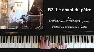 B:2 Le chant du pâtre (ABRSM Grade 2 piano 2021-2022)