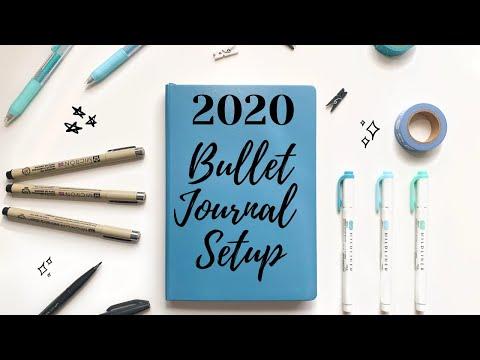 2020 Bullet Journal Setup | Minimal Theme