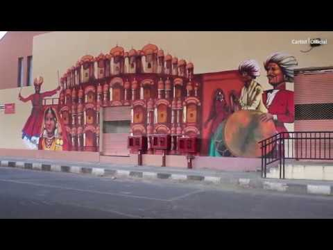 CARTIST MOVING ART PROJECT |JAIPUR METRO  | MURALS