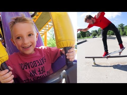 ADIML 63: BEST DAD & SON DAY EVER! / Roller Coasters And Skating!