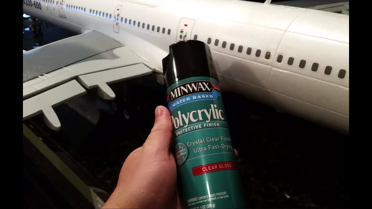 Supreme-Hobbies Airbus A330-600 - Minwax Polycrylic - Clear Coat Protective  Finish - Part 1 of 2