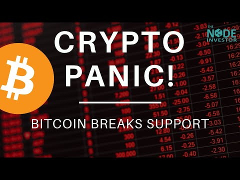 Crypto Panic! Sharp Market Sell-off As Bitcoin Breaks Support