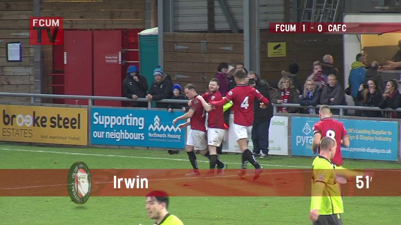 FCUM vs Curzon Ashton - Goals - 27/01/18