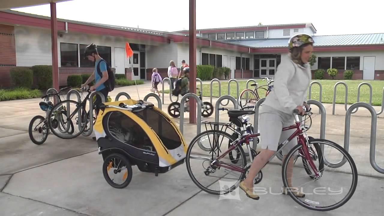 Burley Kids Bike Trailer Youtube