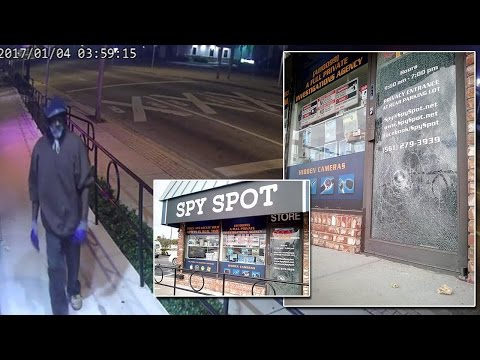 Man Tries To Break Into Spy Store, Unsurprisingly Gets Caught On Camera