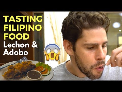 Trying Filipino Food - Eating Lechon in Coron - The Philippines Travel Vlog