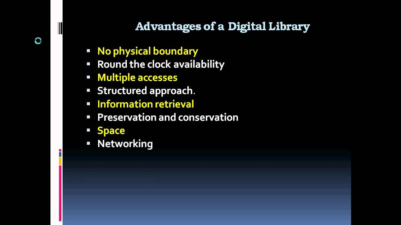 Digital Libraries Advantages And Limitations Youtube