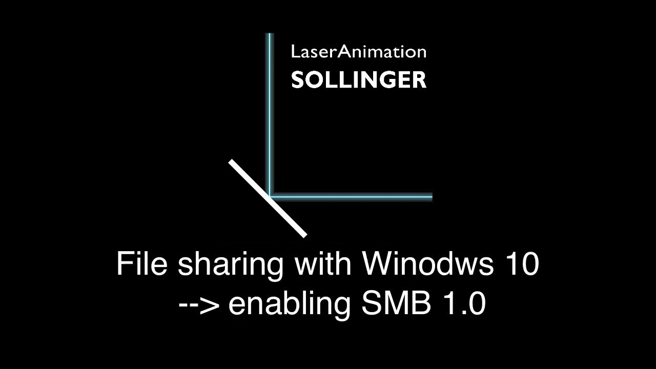 Filesharing with WIndows 10 - SMB 1 0 enabled!