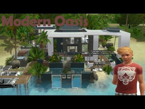 The Sims 3 House Building - Modern Oasis 47 | Speed Build