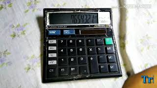 Calculator tricks based on citizen 512