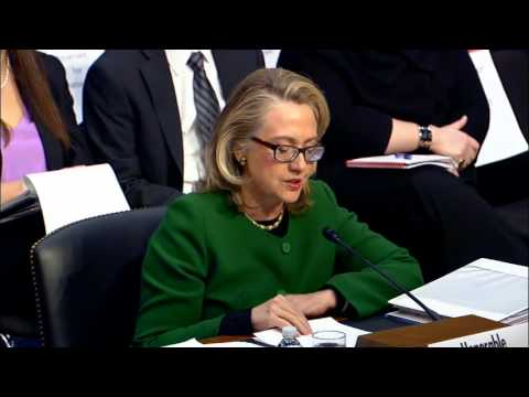 Secretary Clinton Testifies Before the Senate Foreign Relations Committee on Benghazi