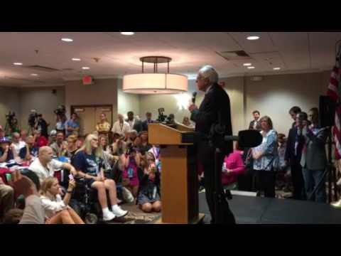 Bernie Sanders Addresses VT, NH and ME Delegations at Democratic Convention