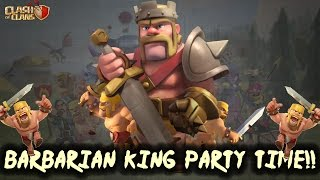 Clash of Clans - BARBARIAN KING PARTY TIME | Road to MAX TH7 |THE PADDEDROOM!! | COC