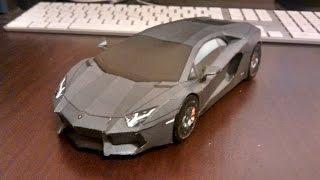 How to make Aventador Papercraft - High Detail