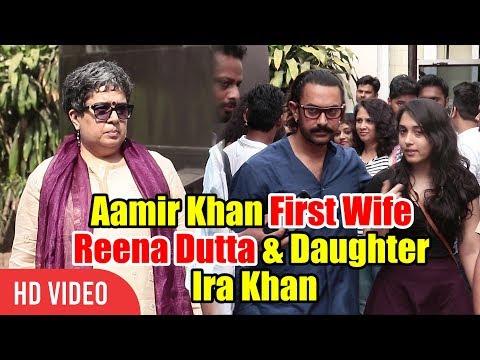 Aamir Khan With First Wife Reena Dutta & Daughter Ira Khan | Spotted At Mehboob Studios