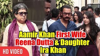 Video Aamir Khan With First Wife Reena Dutta & Daughter Ira Khan | Spotted At Mehboob Studios download MP3, 3GP, MP4, WEBM, AVI, FLV Agustus 2018