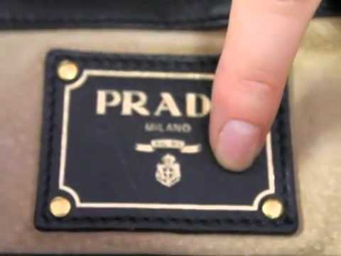 450975574f4e How to check the authenticity of Prada Handbag - YouTube