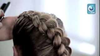 Плетение кос | Видео как. обучающие видео