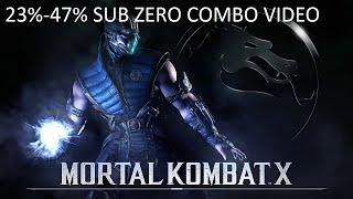 Mortal Kombat X - Sub Zero Cryomancer Combos 23%-47% (1080p 60fps MKX Gameplay)