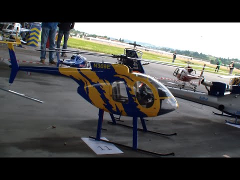 Huge MD Scale R/C Helicopter Roban MD500E Swiss Heli Challenge 2015