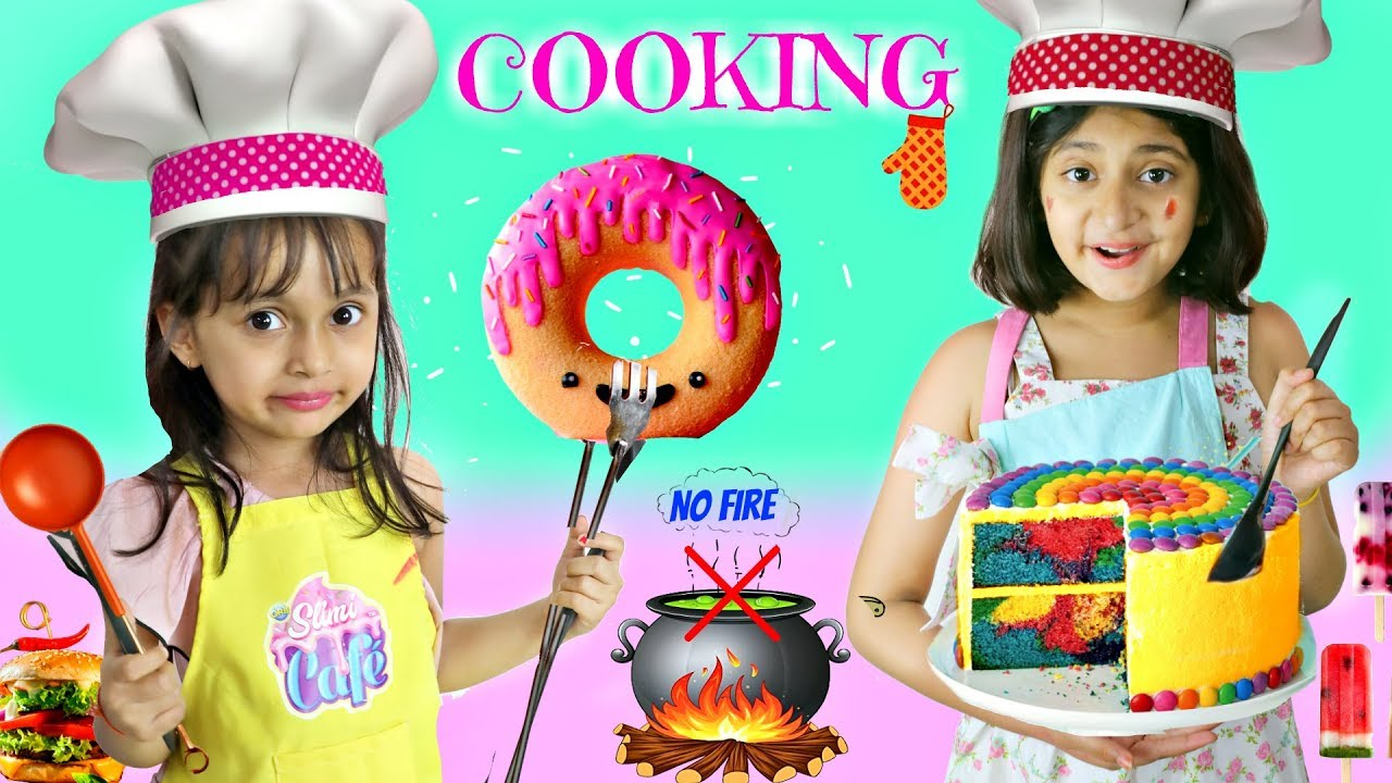 Kids PRETEND Play COOKING | NO FIRE | ToyStars