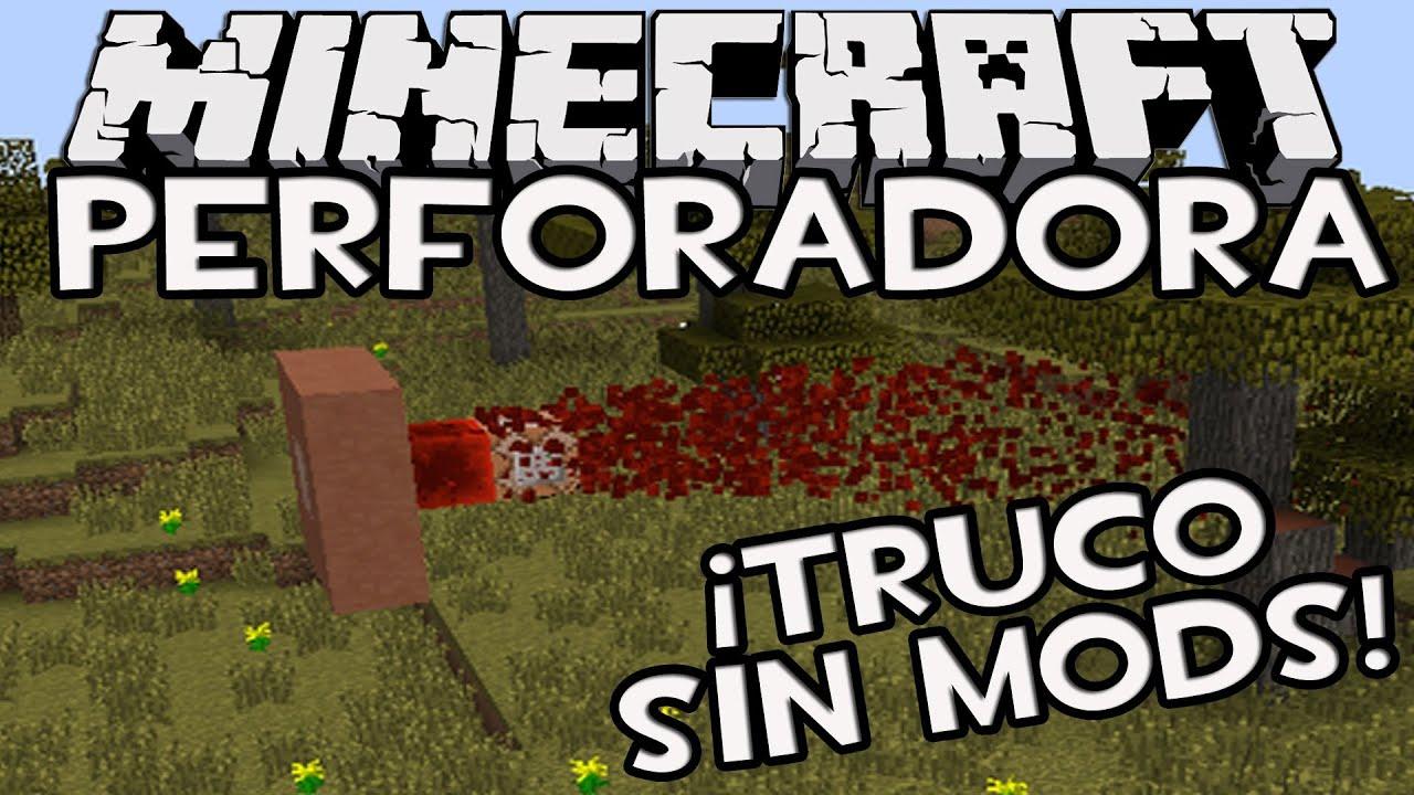 Minecraft 1 8 como hacer un taladro o perforadora sin - Decoraciones para minecraft sin mods ...