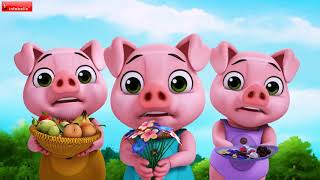 Three Little Pigs and a Sweet Sister Wolf   Bengali Stories for Kids   Infobells