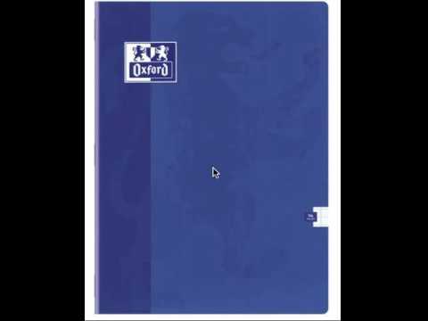 cahier bleu