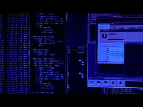 Hacking Scene from The Lone Gunmen s01e01