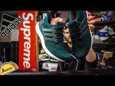 Green Adidas Ultra boost came in! check the review unboxing on feet + snow removal day