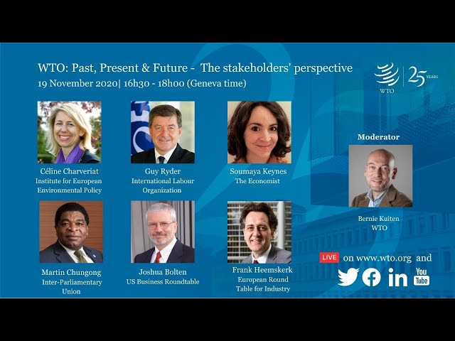 WTO: Past, Present & Future — The stakeholders' perspective