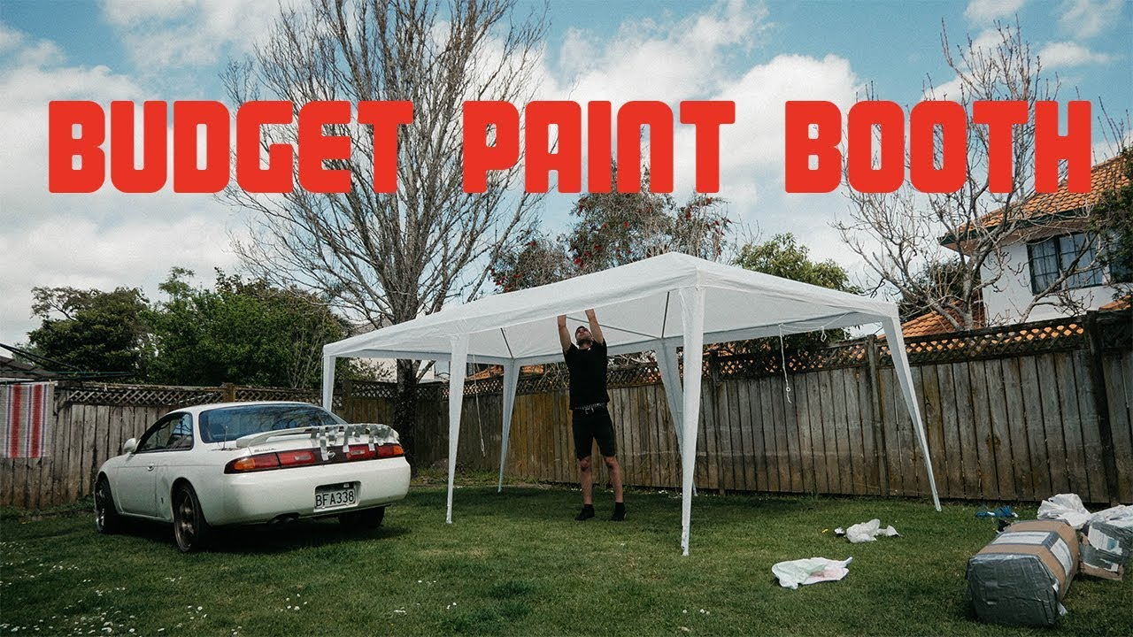 Setting Up A Budget Paint Booth In Our Backyard! - Setting Up A Budget Paint Booth In Our Backyard! - YouTube