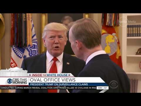 Trump abruptly ends interview on wiretapping
