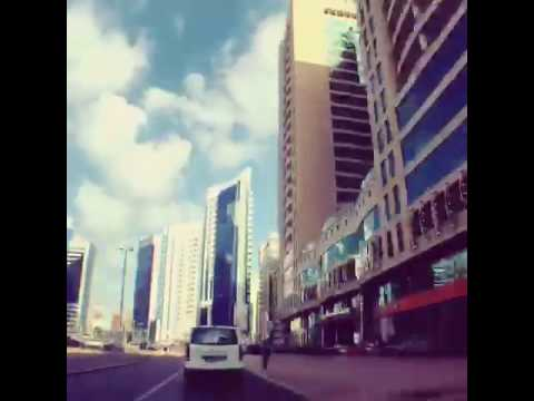 Driving around Abu Dhabi UAE
