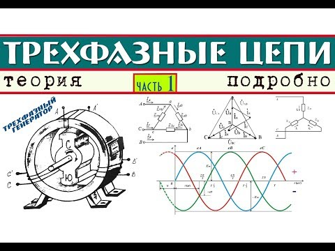 Трехфазные электрические цепи │Теория ч. 1