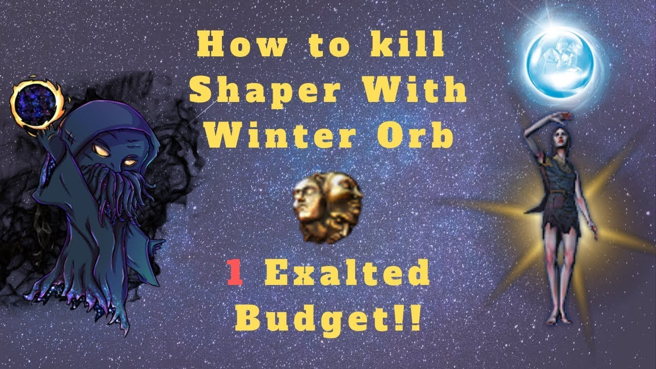 Path of Exile 3 6] How to kill Shaper With Winter Orb, 1